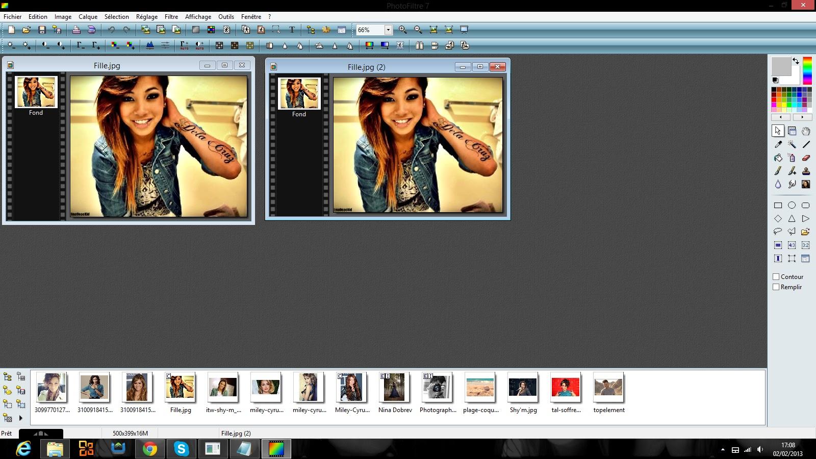 Montages photos effet miroir for Effet miroir photofiltre