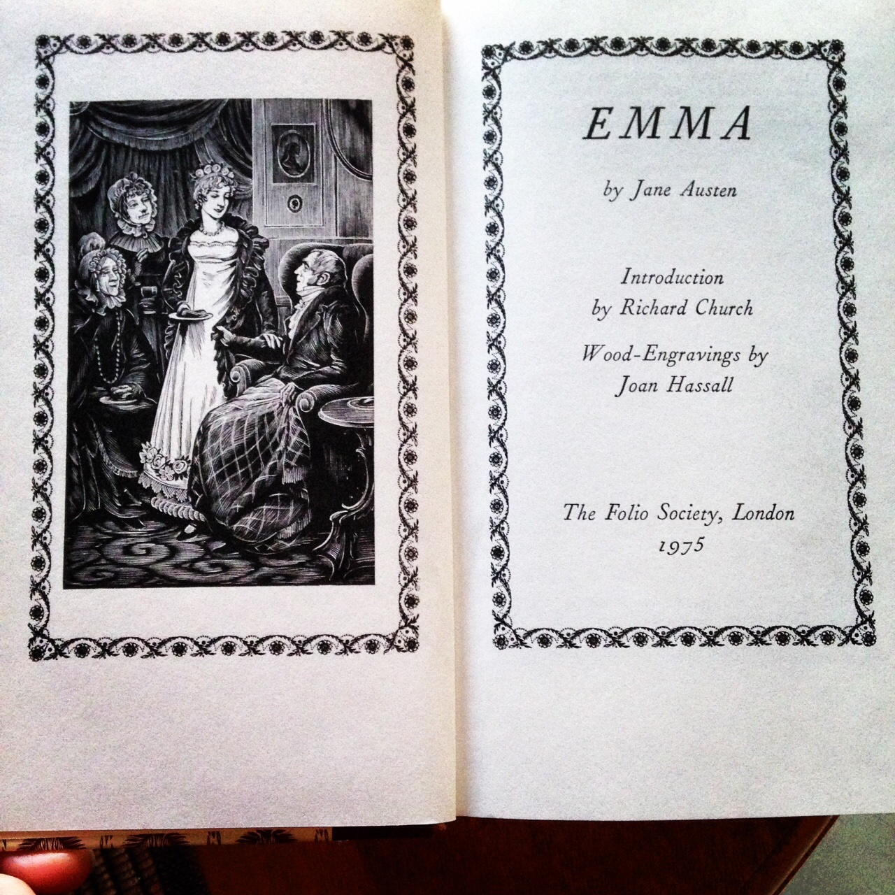 brona s books emma by jane austen title page of my folio society copy of emma