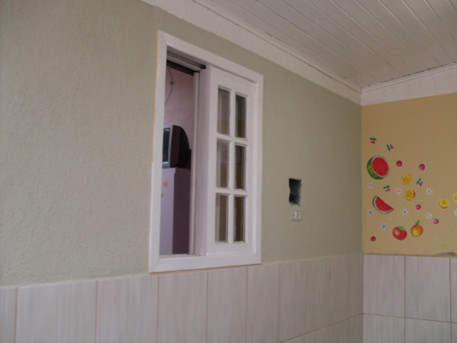 com revestimento em meia parede depois #6E403E 1600x1200 Banheiro Com Revestimento E Grafiato
