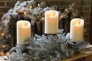 Centros de Mesa de Navidad con Velas, parte 2