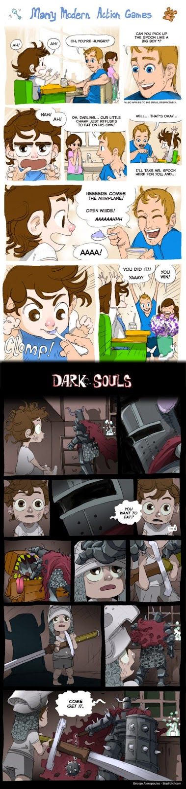 The Learning Curve of Dark Souls