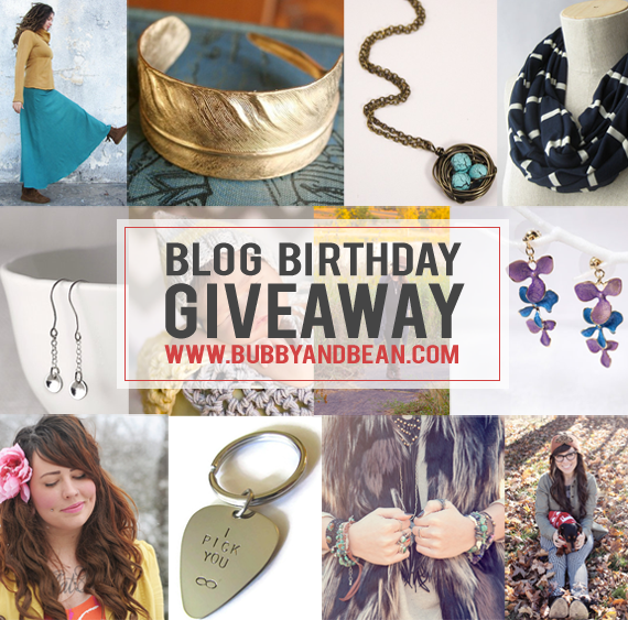 Bubby and Bean's Big Birthday Giveaway // Win 12 Prizes Worth $500!