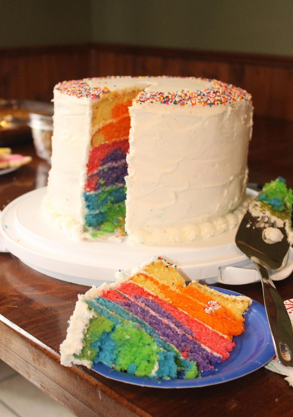 Lilyquilt Birthday Boy Rainbow Cake