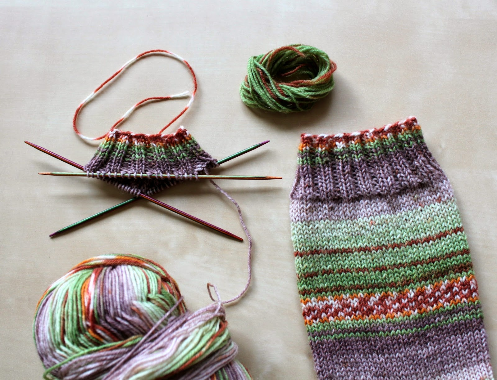 Hand Knitted Things: Sweet and Spicy Opal Sock Yarn Review
