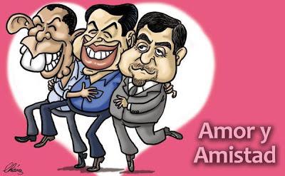 Caricatura de tres politicos ladrones