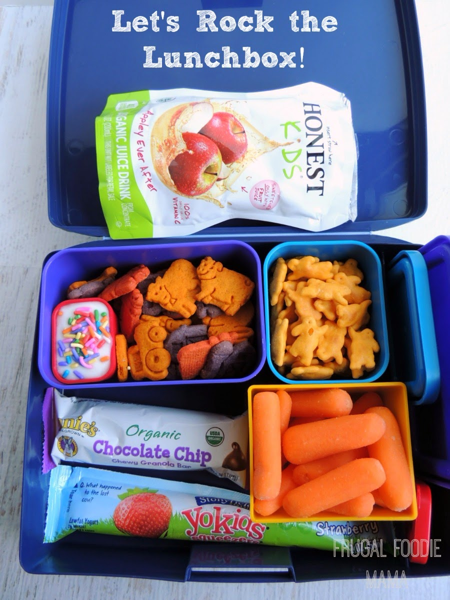 Let's Rock the Lunchbox with Annie's Homegrown via thefrugalfoodiemama.com #teamannies #rockthelunchbox