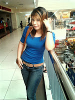 Girl In BLue Here melayu bogel.com