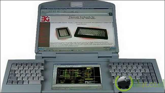 Laptop Layar Ganda ergonomis dan Keyboard Split