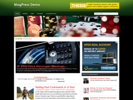 Free Castro Gambling WordPress Theme