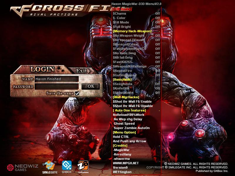 CrossFire Hile Haxon V3.0 D3D Menu indir – Download