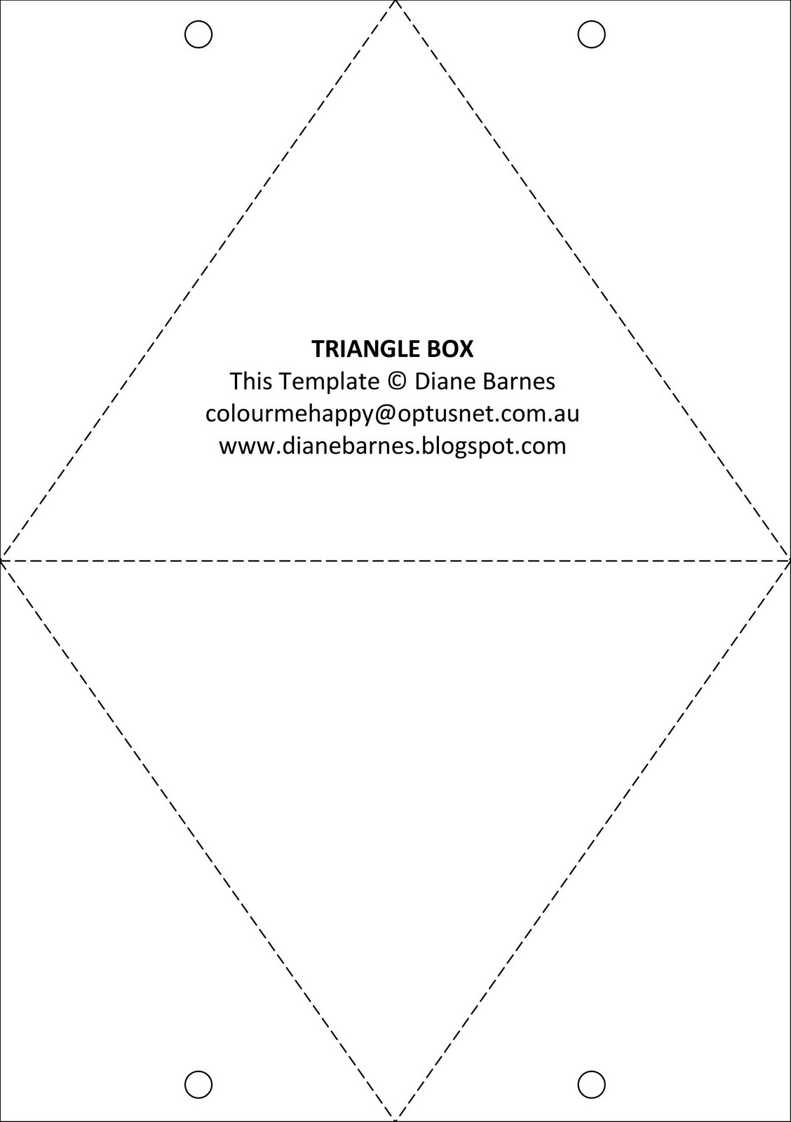 triangle packaging template - colour me happy cupcake triangle box
