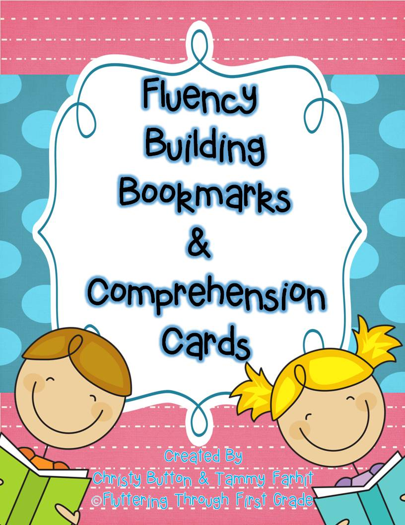 Fluency Building Bookmarks & Comprehension Cards   Fluttering ...