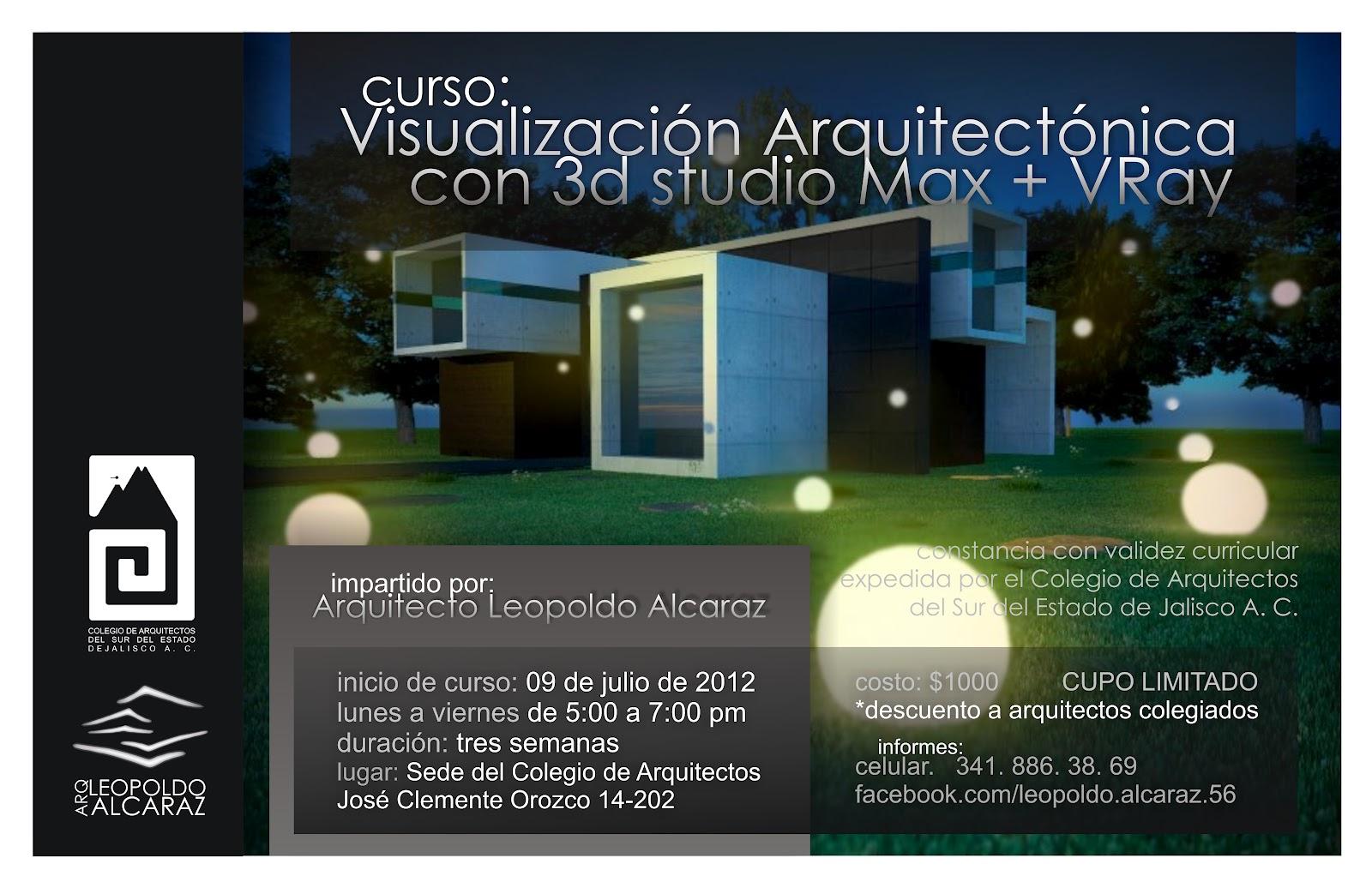 Curso 3ds max y vray wicho dise o mx for Cursos para arquitectos