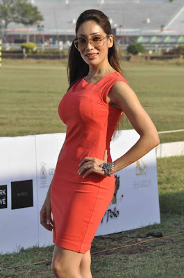 neha dhupia at 3rd asia polo match 2012 photo gallery