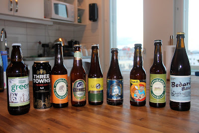 local beers purchased at the systembolaget