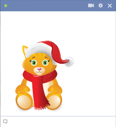 Christmas Kitty Emoticon