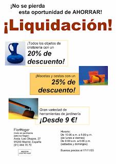 Prospecto de venta de liquidación