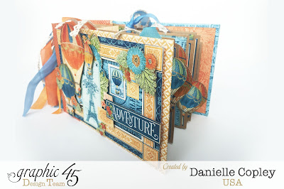 Mini Album using World's Fair by Graphic 45 available at ScrapbookMaven.com