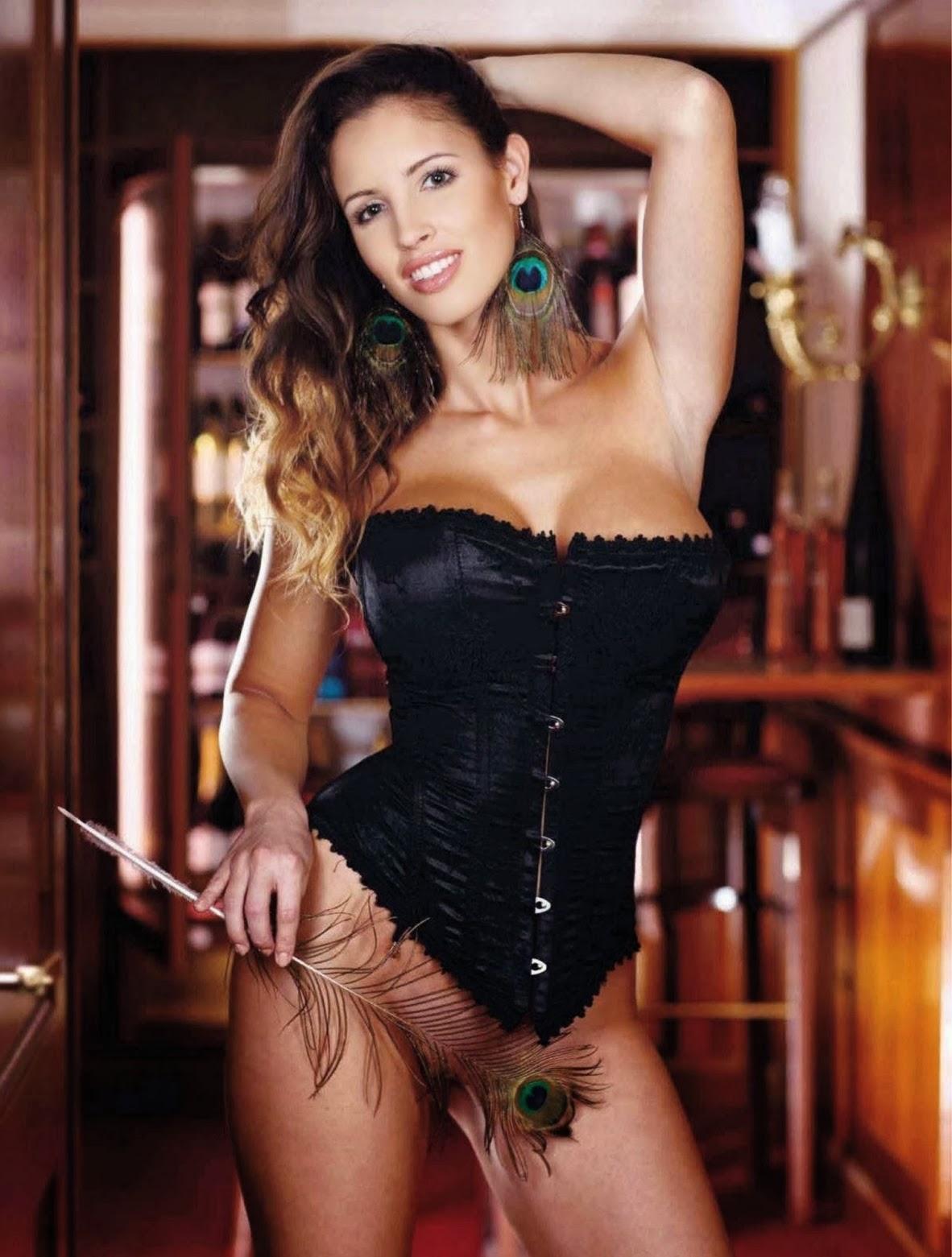 playboy shoot Lucia Javorcekova naked pussy strapless corset
