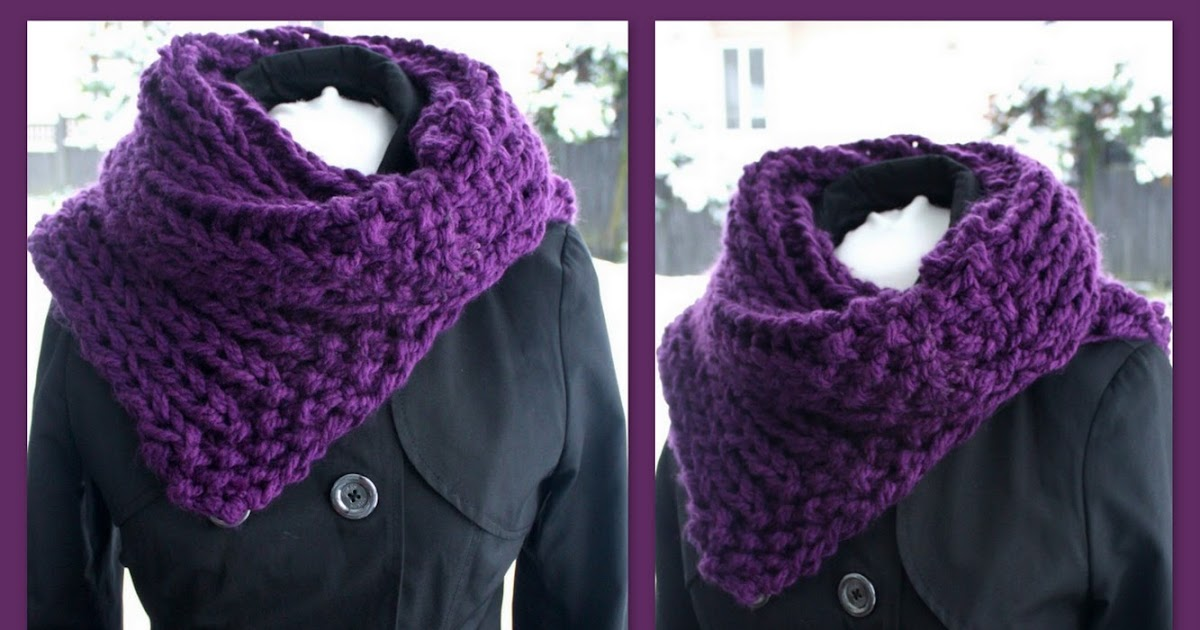 Free Knitting Patterns For Cowl Collars : The Createry Shop: Free Easy 3C Chunky Collar Cowl Knitting Pattern