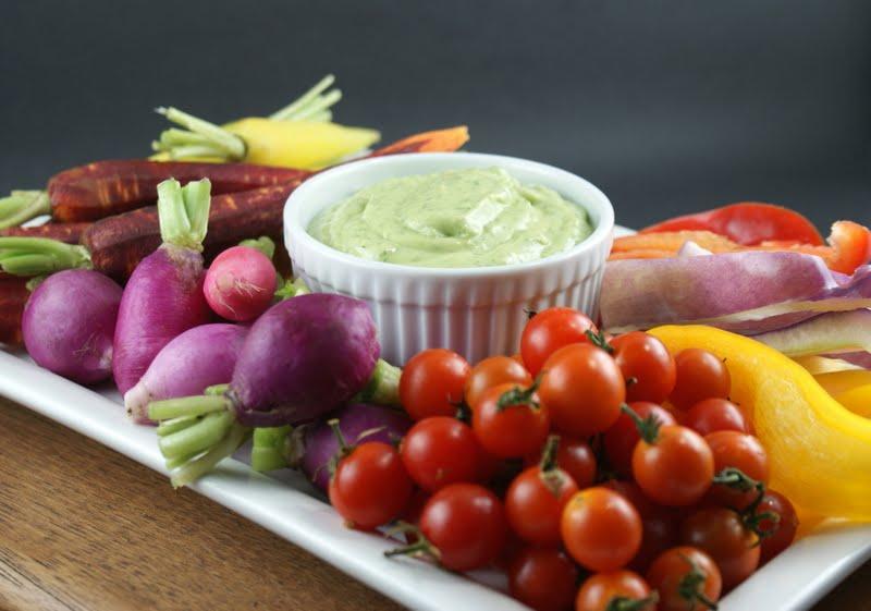 Authentic Suburban Gourmet: Crudités with Green Goddess Dip