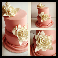 Basic 103 : Tiered round cake with Sugar Rose