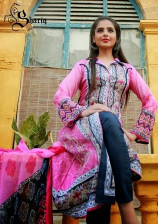 Latest Crinkle Lawn Suits Dress