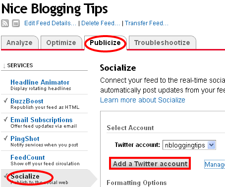 Auto Tweet Blog Posts