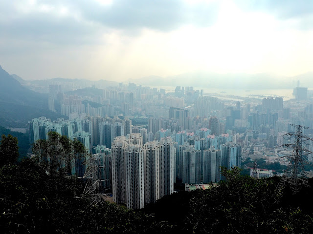 View of Kowloon from the Lion Rock hiking trail, Hong Kong