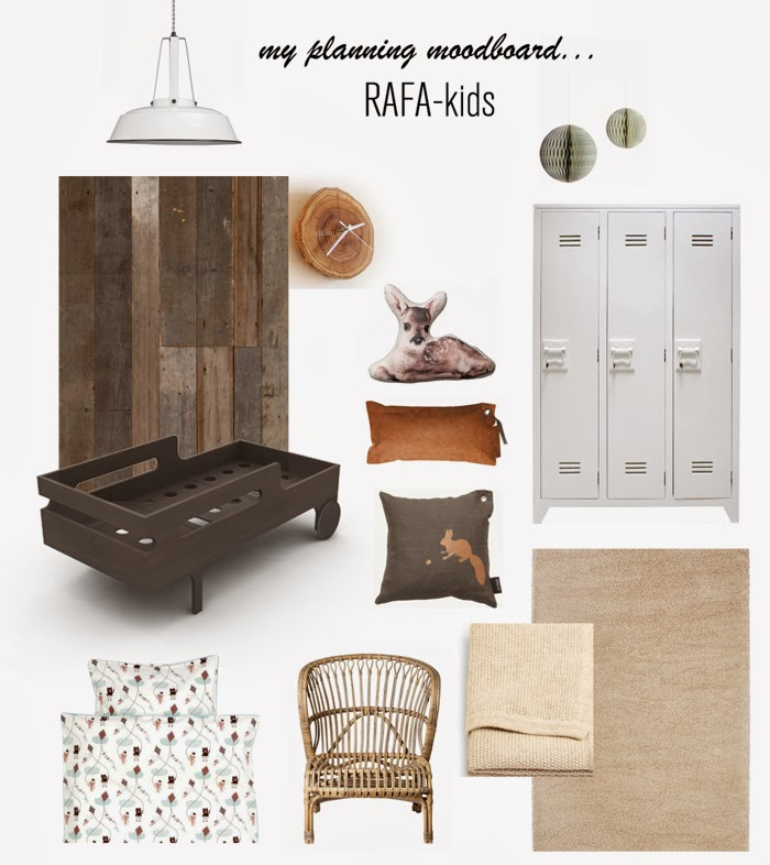 Rafa-kids mood board R toddler bed dark chocolate