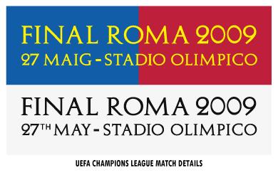 UEFA Champions League Rome 2009