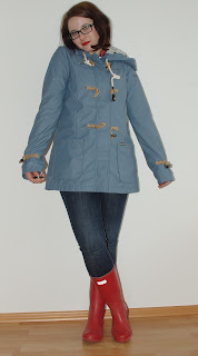 [Fashion] Little Rain Girl - Regenjacke & Gummistiefel // Rain Coat & Hunter Boots