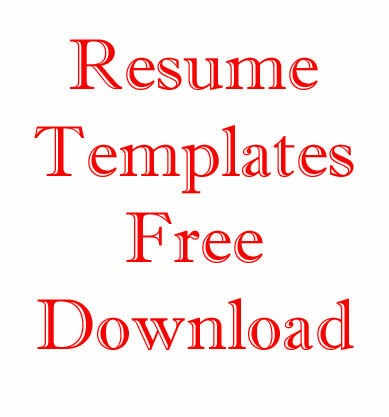 Some New Resume Format/Templates 2013 - Free Resume Templates Download ...