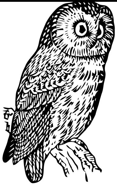 ephemeraphilia  free vector art  owl
