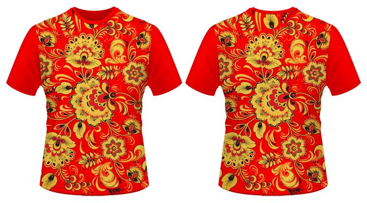 тотальные футболки печать