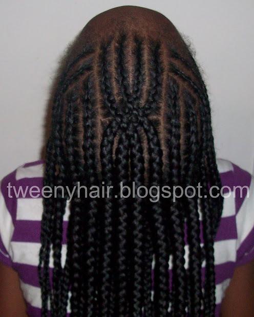 tweeny hair double crossed cornrow
