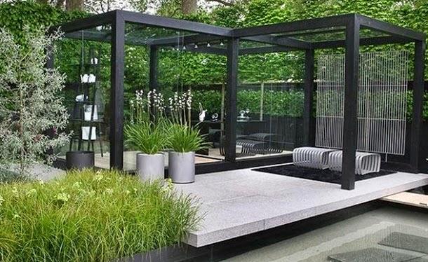 Частный дом дизайн двора своими руками фото