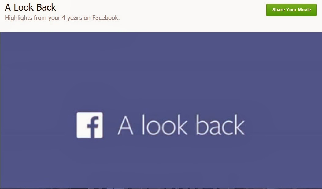 Facebook Look back