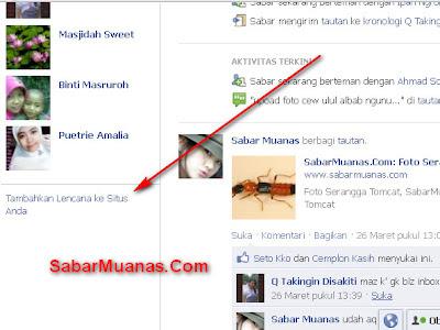 memasang lencana profil facebook di blog