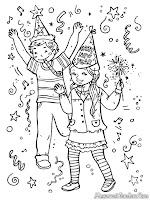 Gambar Anak-Anak Bergembira Menyambut Tahun Baru