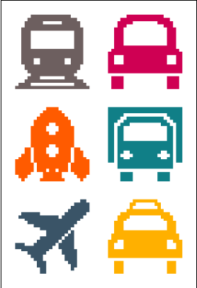 Mini Vehicles Cross Stitch Free Chart