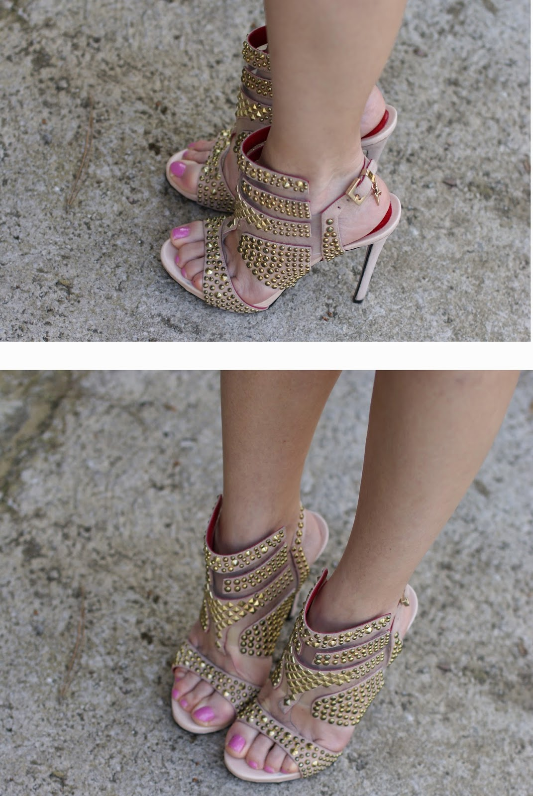 Cesare Paciotti sandals, nude studded heels, Fashion and Cookies, fashion blogger