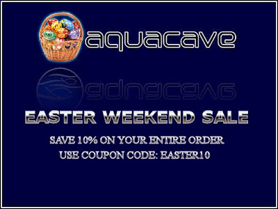Easter Weekend Sale at AquaCave.com