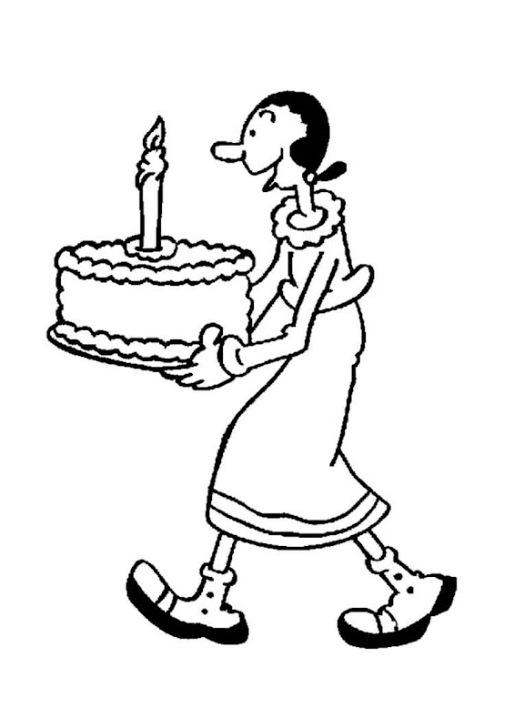 Disney Cakes Coloring Pages title=