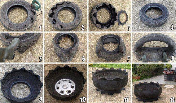 Nåhh ja sådan kan man jo også bruge gamle bildæk..   bettina holst ...