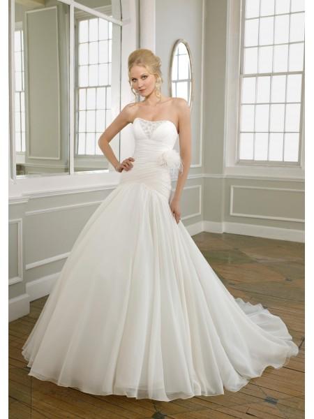 vestidos de novia baratas: vestidos ligeros de la boda (en blanco