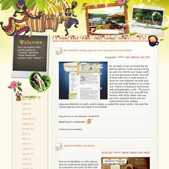 Join Uganda People blogger template from wordpress. travel blog template.