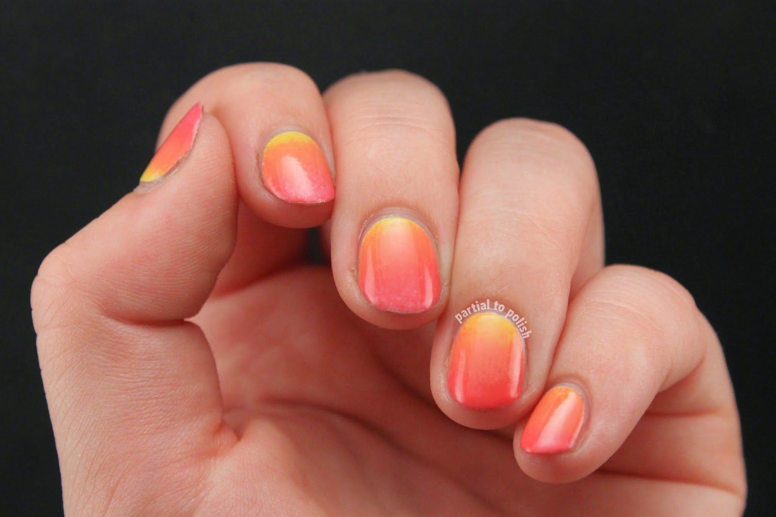 Peachy Yellow to Pink Gradient