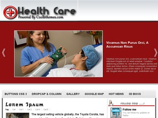 Health Care Blogger Template