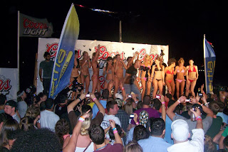 spring break bikini contest, inertia tours
